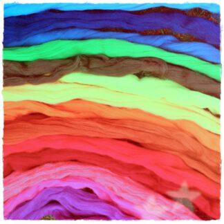 Kardenband Schafwolle