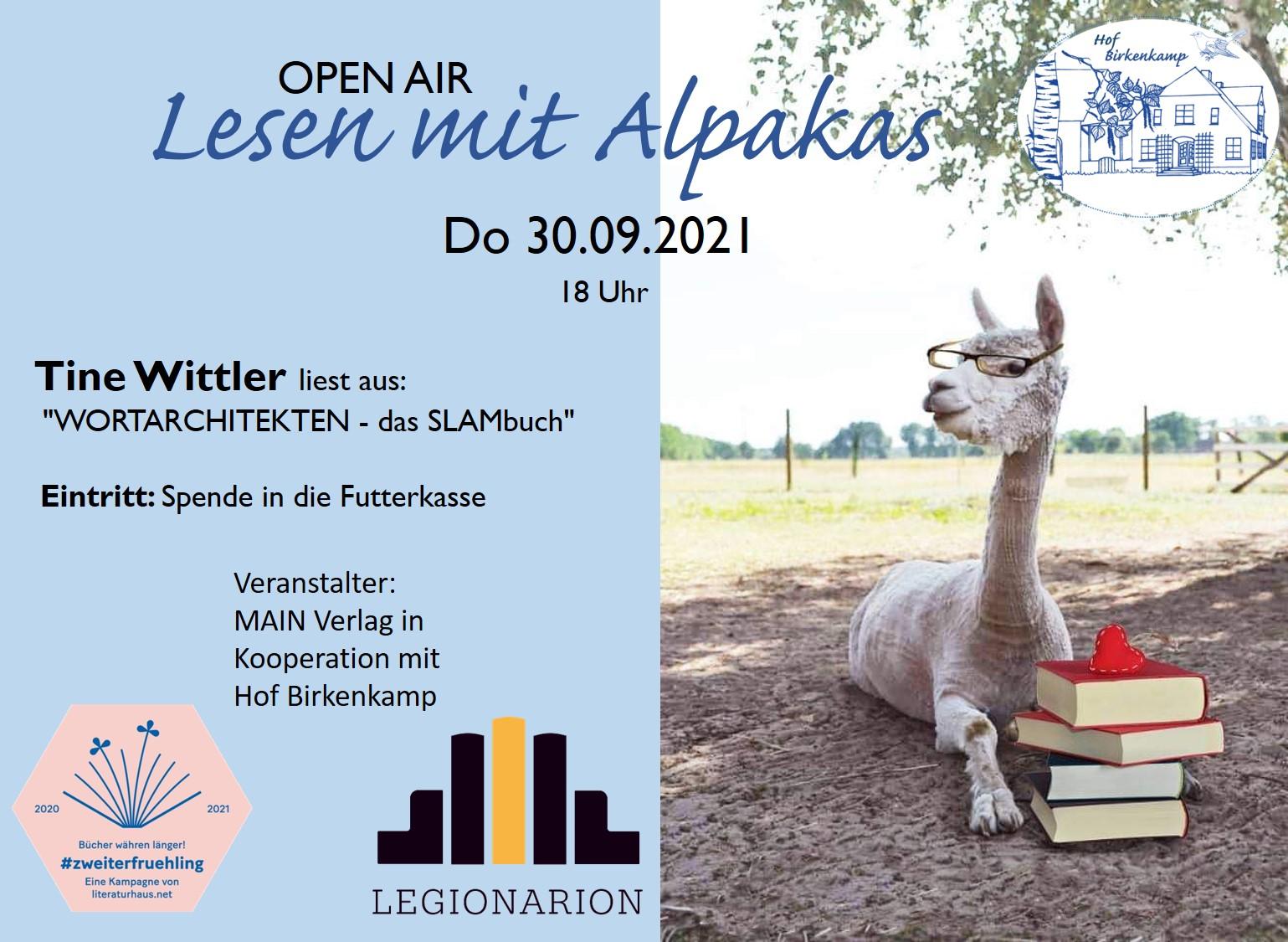 Lesen mit Alpakas Tine Wittler 092021